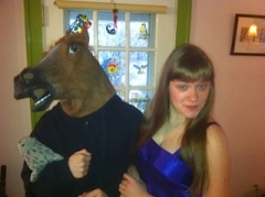 Horse and sister