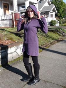 purple coat/dress