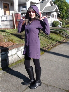 purple coat/dress
