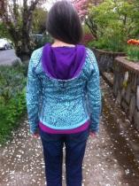floral hoodie back